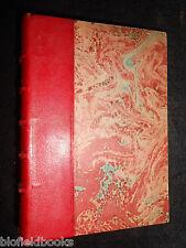 Ltd 1600 - Gabriele D'Annunzio; L'Enfant De Volupte (1921) French, Half Leather