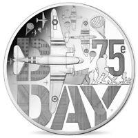 FRANCE 10 EURO BELLE EPREUVE ARGENT 2019 GUERRE D-DAY D DAY 5000 ex RARE