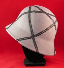 Ladies Gray Riding Hat Wool Leather Design/Trimmings Sophisticated Small Medium