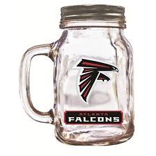 Brand New Duck House Sports NFL Atlanta Falcons 20oz  Glass Mason Jar / Mug