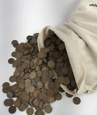 2500 1909-1958 wheat penny UNSEARCHED in canvas bag