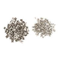 100X 7x7mm Metall Hohlnieten Killernieten Nieten Ziernieten Gothic Silber Far SS