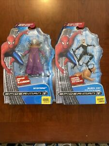 New Hasbro Spider-Man BLACK CAT with leaping cougar Action Figure Set Of 2