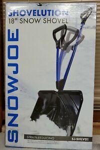 Snow Joe SJ-SHLV01 Shovelution Strain-Reducing Snow Shovel | 18-Inch | Blue