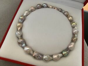 AAA Quality Baroque Multicolour Freshwater Cultured Pearls Necklace 45 cm