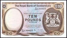 1986 Royal Bank Of Scotland PLC £ 10 banknote * A/93 139827 * GVF *
