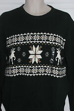"Mens Green Dockers Reindeer Christmas Ski Sweater Size ""Ugly ?"" Medium NWT $65"