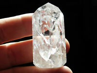 A Small Very Translucent! Polished Fire and Ice Quartz Crystal Brazil 53.4gr