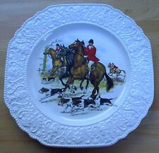 Wood & Sons FOX HUNTING WALL PLATE, vintage, retro, shabby chic, mid century