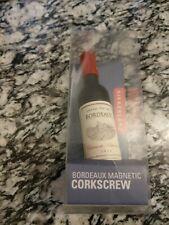 Kikkerland Magnetic Wine Bottle Corkscrew, Black