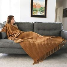 Graced Soft Luxuries Throw Blankets Woven Soft for Sofa Couch Decorative Knitted