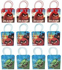 12PC NEW MOVIE ANGRY BIRDS GOODIE PARTY FAVOR CANDY LOOT GIFT BIRTHDAY BAGS
