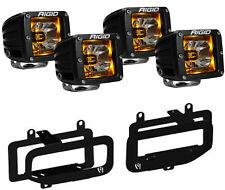 Rigid Radiance LED Fog Light w/ Amber Backlight for 10-17 Dodge Ram 2500 3500