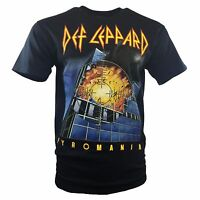 DEF LEPPARD Mens Tee T Shirt Vintage Rock Band Tour Music S Sleeve Black NEW