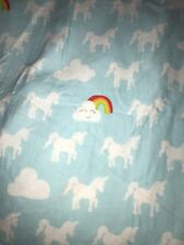 Circo Target Full Flat Flannel Unicorn Rainbows Clouds Bed Sheet Bedding Fabric