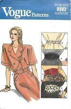Vogue Sewing Pattern 9982 Size 6 - 18, NEW Belts, Cummerbund, Leather or Fabric