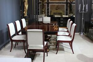 Chesterfield Chair Set Real Leather Pads Set Armchair Group 8x Chairs Immediate
