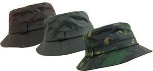 Game Safari Camoflage Wax Cotton Bucket Sun Hat - Hunting Fishing Outdoor