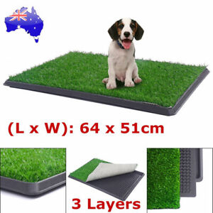 Indoor Dog Pet Potty Zoom Training Portable Grass Mat Toilet Large Loo Pad Tray