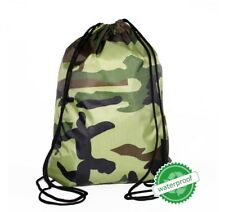 CAMO CAMOUFLAGE Bag Draw string Backpack Back pack Hunting camping school sports