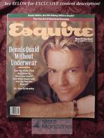 ESQUIRE magazine March 1989 Dennis Quaid Julia Roberts Isaac Stern Denis Johnson
