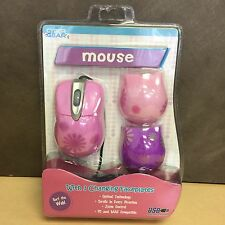 Cyber Gear Pink Daisy USB Optical Mouse With 3 Changing Faceplates - 91897