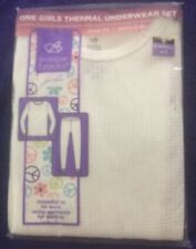Bobbie Brooks Girl Size Small 4/5 Off White Thermal Underwear Set New In Package