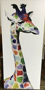 Giraffe Animal Canvas Wall Art Picture Poster Length 4FT/122CM Width 20IN/51CM