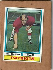 1974 Topps Football Len St. Jean New England Patriots #103 NICE