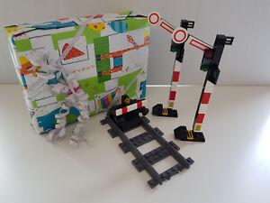 Lego Geschenk-Set 1xPrellbock m. gerader Schiene & BA 2 x Signale Eisenbahn City