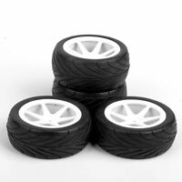 4X For HSP RC 1:10 Front Rear Tires Wheel Rims On-Road Buggy Car 25034+27007