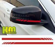 Mercedes AMG Staggered Mirror Cap Stripes - A Class A200 A45 CLA45 GLA45 C63