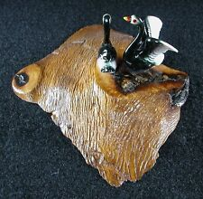 Collectible 2 Duck Figurine Made In Oregon Madrone Wood Base