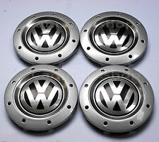 4x 148mm VW Wheel Center Caps Emblem Cover Hub - GOLF JETTA TOURAN - 1K0601149E