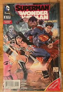 SUPERMAN WONDER WOMAN #2 DC COMICS 2014 NM+ Combo-pack