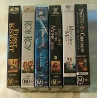 Bulk VHS Lot 6 Classic Titles: First Knight, Rob Roy, Pirates of the Caribbean +