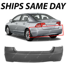 NEW Primered - Rear Bumper Cover Replacement for 2006-2011 Honda Civic Sedan 4Dr