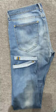 "* Lee * Mens Slim Tapered Jeans 31""W X 32""L Light Blue Denim"