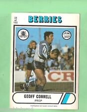 1976 CANTERBURY BULLDOGS  SCANLENS  RUGBY LEAGUE CARD  #23  GEOFF CONNELL