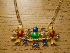 Gold Colourful Birds Crystal Love Bird Swallow Perch Jewellery Fashion Necklace