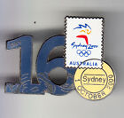 RARE BIG PINS PIN'S .. OLYMPIQUE OLYMPIC SYDNEY 2000 STAMP TIMBRE POST ~13