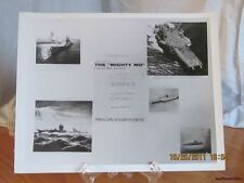 Reprint 8x10 Real Picture Photograph of Uss Aircraft Carriers-The Mighty Mo