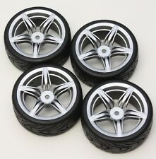 R/C 5 Star 1/10 Scale Rims and Tires RC Car Pre-Glued ! Hot !! 4 Tec ect.