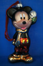 Mickey Mouse Blown Glass Christmas Ornament Figurine Disney Store 2007