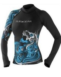 Subgear ladies compression fit long sleeve rashguard top size XS
