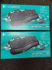 Lot of 2 x Brand New Logitech mk550 Wireless Wave Combo Keyboard & Mouse Bundle