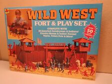 Toy Street Wild West Fort & Playset Marx Indians And Fort Apache Made In USA