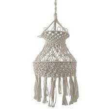 Vintage Handmade Macrame Lampshade Ceiling Pendant Light Shade Boho Art Decor