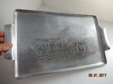Vintage WENDELL AUGUST FORGE Aluminum PIONEER covered wagon Tray 1940 HTF