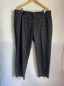 Adidas Men's Size 40x32 Climalite Performance Flat Front Golf Pants Gray Plaid